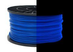 3D Drucker ABS 3.00 mm Printer Filament Spule Trommel Patrone Glow in dark Blau