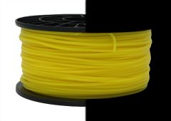 3D Drucker PLA 3.00 mm Printer Filament Spule Trommel Patrone Glow in dark Gelb