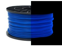 3D Drucker PLA 3.00 mm Printer Filament Spule Trommel Patrone Glow in dark Blau
