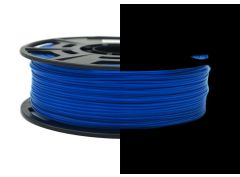 3D Drucker PLA 1.75 mm Printer Filament Spule Trommel Patrone Glow in dark Blau