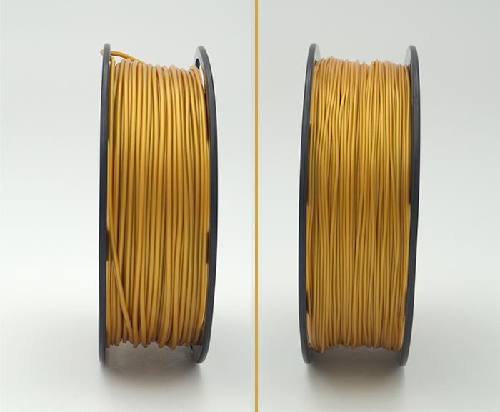 Filamente der Marke Kaisertech in verschiedenen Durchmessern.