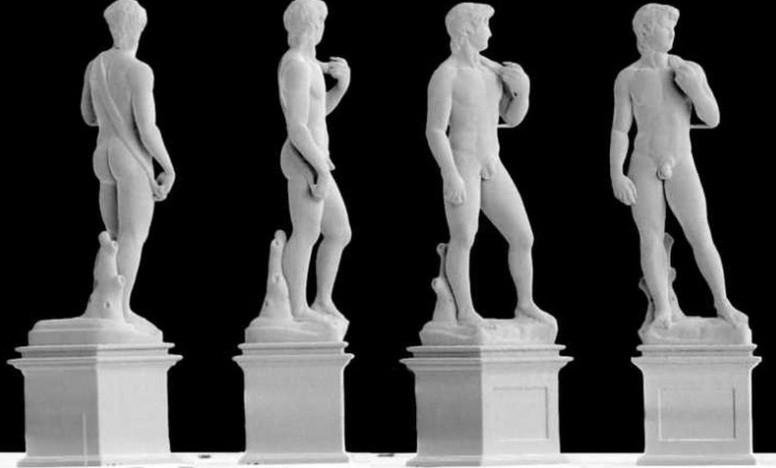 5mm großer David von Michelangelo aus Metall gedruckt